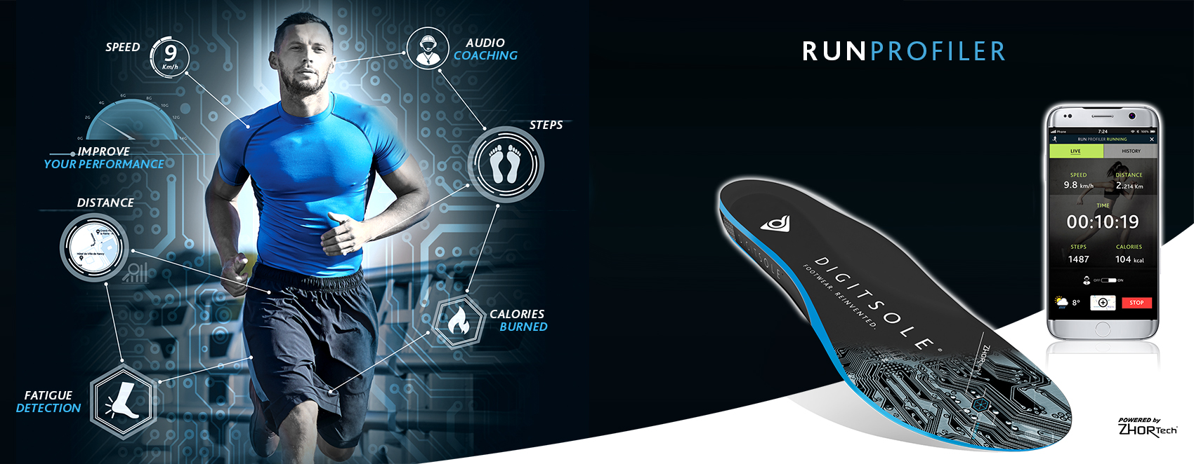 Run Profiler : connected insole for running
