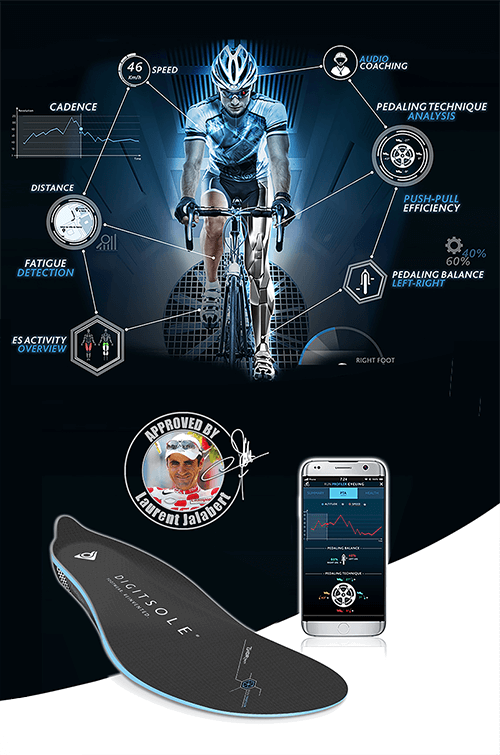 RP Cycling, connected insole cycling